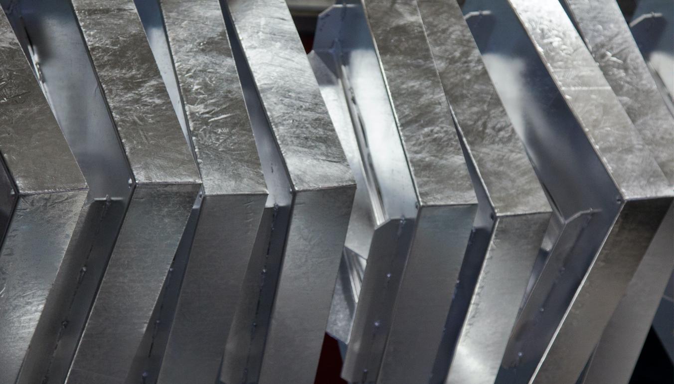 Galvanised metal